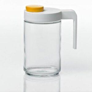 Контейнер для масла IP-608S, 0.6 л, стекло, прозрачный/белый
